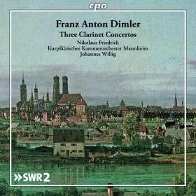 Franz Anton Dimler (1753-1827): Klarinettenkonzerte Es-Dur, B-Dur, B-Dur, CD