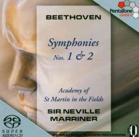 Ludwig van Beethoven (1770-1827): Symphonien Nr.1 & 2, SACD