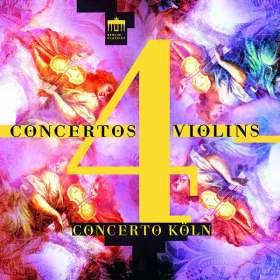 Concerto Köln - Concertos for 4 Violins (CD), CD