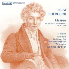 "Luigi Cherubini (1760-1842): Messen Nr.1 ""Cäcilienmesse"" & Nr.4, CD"