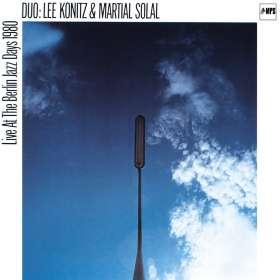Lee Konitz & Martial Solal: Live At The Berlin Jazz Days 1980, CD