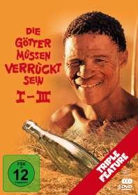 Jamie Uys: Die Götter müssen verrückt sein 1-3 (Triple Feature), DVD