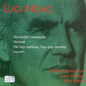 Luigi Nono (1924-1990): Variazioni Canoniche, CD