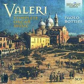 Gaetano Valeri (1760-1822): Sämtliche Orgelwerke, CD