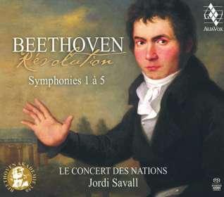 Ludwig van Beethoven (1770-1827): Symphonien Nr.1-5, SACD