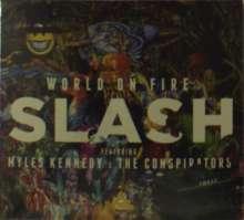 Slash: World On Fire (CD + T-Shirt Gr.XL), 1 CD und 1 T-Shirt