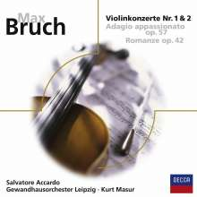 Max Bruch (1838-1920): Violinkonzerte Nr.1 & 2, CD