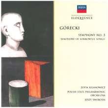 "Henryk Mikolaj Gorecki (1933-2010): Symphonie Nr.3 ""Symphonie der Klagelieder"", CD"