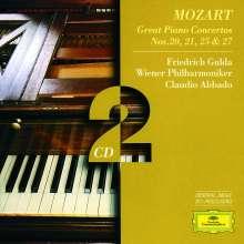 Wolfgang Amadeus Mozart (1756-1791): Klavierkonzerte Nr.20,21,25,27, 2 CDs