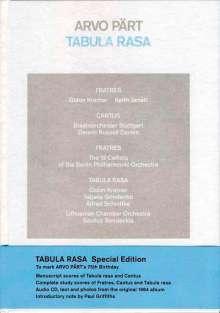 Arvo Pärt (geb. 1935): Tabula rasa (Deluxe-Edition zum 75.Geburtstag Arvo Pärts), CD