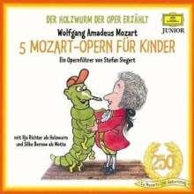Der Holzwurm der Oper erzählt:5 Mozart-Opern für Kinder, 5 CDs