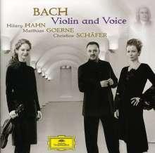 Johann Sebastian Bach (1685-1750): Arien & Duette mit obligater Solovioline - Violin & Voice, CD