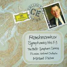 Sergej Rachmaninoff (1873-1943): Symphonien Nr.1-3, 4 CDs