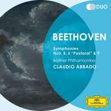 Ludwig van Beethoven (1770-1827): Symphonien Nr.5,6,9, 2 CDs