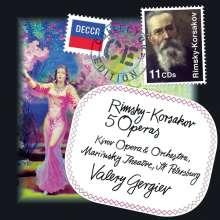 Nikolai Rimsky-Korssakoff (1844-1908): Operngesamtaufahmen (5 Opern), 11 CDs
