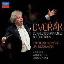 Antonin Dvorak (1841-1904): Complete Symphonies & Concertos, 6 CDs