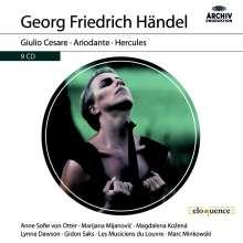 Georg Friedrich Händel (1685-1759): 3 Opern-Gesamtaufnahmen (DGG Archiv-Produktionen), 9 CDs