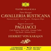 Ruggero Leoncavallo (1857-1919): Pagliacci (Deluxe-Ausgabe mit Blu-ray Audio), 2 CDs und 1 Blu-ray Audio