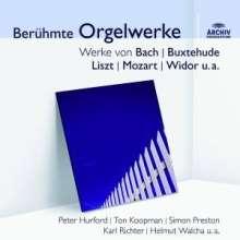 Berühmte Orgelwerke auf historischen Orgeln, CD