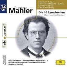 Gustav Mahler (1860-1911): Symphonien Nr.1-10, 12 CDs