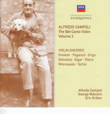 Alfredo Campoli - The Bel Canto Violin Vol.3, 2 CDs