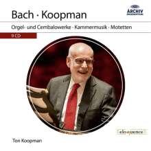 Johann Sebastian Bach (1685-1750): Ton Koopman spielt & dirigiert Bach, 9 CDs