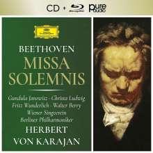 Ludwig van Beethoven (1770-1827): Missa Solemnis op.123 (mit Blu-ray Audio), 1 CD und 1 Blu-ray Audio