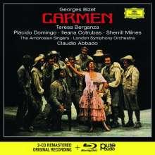 Georges Bizet (1838-1875): Carmen  (Deluxe-Ausgabe mit Blu-ray Audio), 2 CDs und 1 Blu-ray Audio