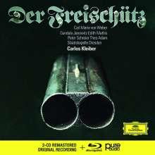 Carl Maria von Weber (1786-1826): Der Freischütz (mit Blu-ray Audio), 2 CDs und 1 Blu-ray Audio
