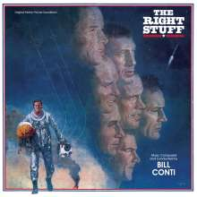 Bill Conti: Filmmusik: The Right Stuff (O.S.T.) (Limited-Edition) (Blue Vinyl), LP