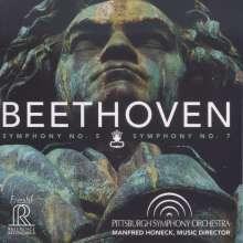 Ludwig van Beethoven (1770-1827): Symphonien Nr.5 & 7, Super Audio CD