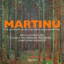 Bohuslav Martinu (1890-1959): Sämtliche Werke für Violine & Orchester, 4 CDs