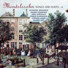 Felix Mendelssohn Bartholdy (1809-1847): Lieder Vol.4, CD