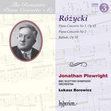 Ludomir Rozycki (1884-1953): Klavierkonzerte Nr.1 & 2, CD