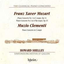 Franz Xaver Mozart (1791-1844): Klavierkonzerte Nr.1 C-Dur op.14 & Nr.2 Es-Dur op.25, CD