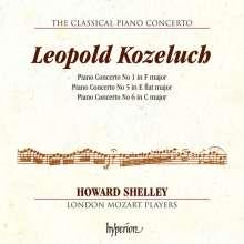 Leopold Kozeluch (1747-1818): Klavierkonzerte Nr.1,5,6 (F-Dur, Es-Dur, C-Dur), CD