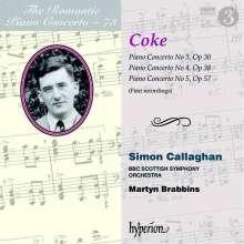 Roger Sacheverell Coke (1912-1972): Klavierkonzerte Nr.3-5 (op.30,38,57), CD