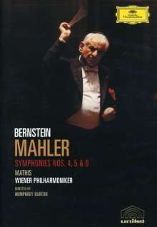 Gustav Mahler (1860-1911): Bernstein/Mahler DVD-Edition - Symphonien Nr.4-6, 2 DVDs
