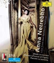 Anna Netrebko - Live from the Salzburg Festival, 3 Blu-ray Discs