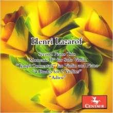 Henri Lazaroff (1932-2013): Klaviertrio Nr.2 (2005), CD