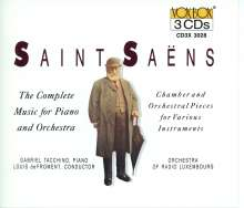 Camille Saint-Saens (1835-1921): Klavierkonzerte Nr.1-5, 3 CDs