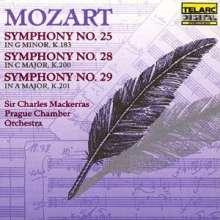 Wolfgang Amadeus Mozart (1756-1791): Symphonien Nr.25,28,29, CD