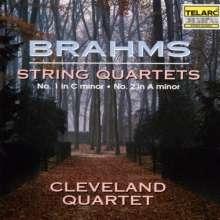 Johannes Brahms (1833-1897): Streichquartette Nr.1 & 2, CD