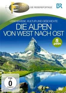 Die Alpen - Von West nach Ost, 5 DVDs