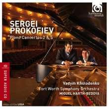 Serge Prokofieff (1891-1953): Klavierkonzerte Nr.2 & 5, Super Audio CD