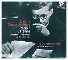Dmitri Schostakowitsch (1906-1975): Kammersymphonien opp.49a,110a,118a, CD