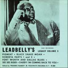 Leadbelly (Huddy Ledbetter): Vol. 3-Lead Belly's Legacy: Ea, CD