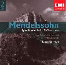 Felix Mendelssohn Bartholdy (1809-1847): Symphonien Nr.3-5, 2 CDs