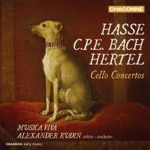Johann Wilhelm Hertel (1727-1789): Cellokonzerte A-dur & a-moll, CD