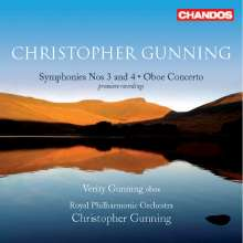 Christopher Gunning (geb. 1944): Symphonien Nr.3 & 4, CD